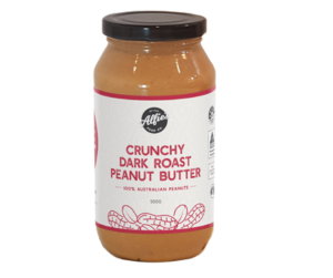 Alfies Crunchy Dark Roast Peanut Butter 500g