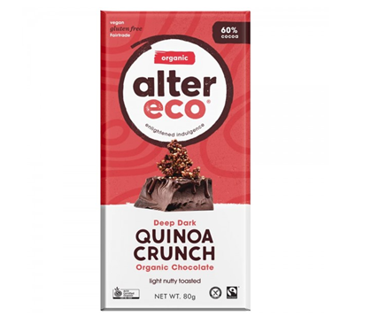Alter Eco Vegan Organic Chocolate 80g Dark Quinoa