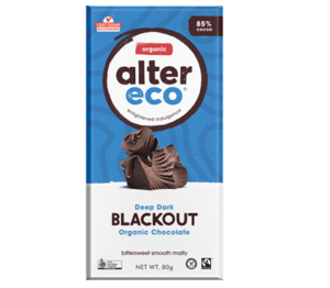 Alter Eco Vegan Organic Chocolate Dark Blackout 80g