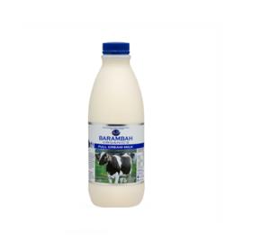 Barambah Organics Full Cream Milk 1l