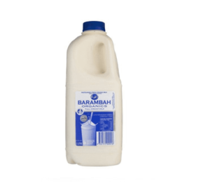 Barambah Organics Full Cream Milk 2l