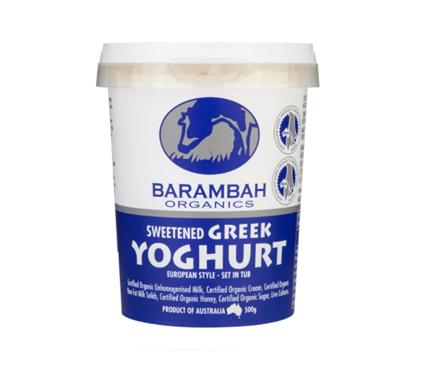 Barambah Sweetened Greek Yoghurt 500g
