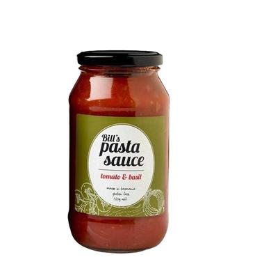 Bill's Pasta Sauce Tomato & Basil 520g