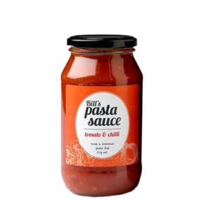 Bill's Pasta Sauce Tomato & Chilli 520g