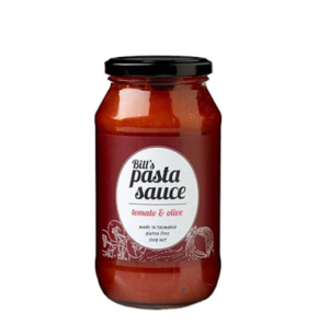Bill's Pasta Sauce Tomato & Olive 520g