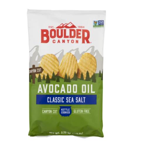 Boulder Canyon Kettle Potato Chips Avocado Oil Classic Sea Salt 149g