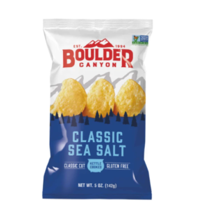 Boulder Canyon Kettle Potato Chips Classic Sea Salt 149g