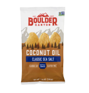 Boulder Canyon Kettle Potato Chips Coconut Oil Classic Sea Salt 149g
