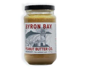 Byron Bay Crunchy Peanut Butter Unsalted 375g