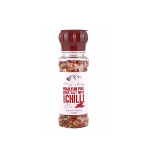 Chef's Choice Himalayan Pink Rock Salt With Crushed Chilli
