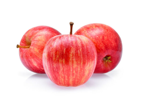 Red Gala Apples Isolated On White Background