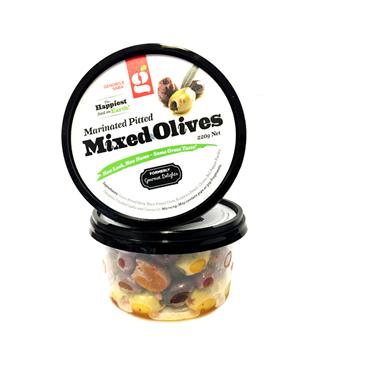 Genobile Saba Marinated Pitted Mixed Olives 220g