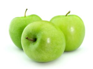 9058185 Green Apples On A White Background
