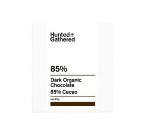 Hunter + Gathered 85% Dark Organic Chocolate 45g