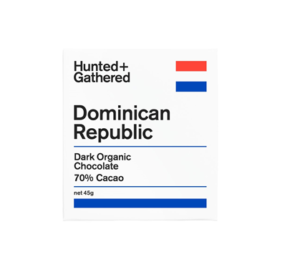 Hunter + Gathered Dominican Republic 70% Dark Organic Chocolate 45g