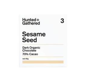Hunter + Gathered Sesame Seed 70% Dark Organic Chocolate 45g