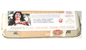 Joanne's Pure Organic Grain Fed Eggs 1