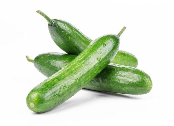 Three Fresh Cucumbers.