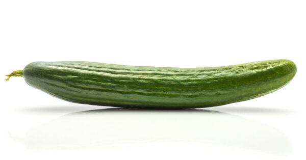 Hothouse Cucumber Isolated On White