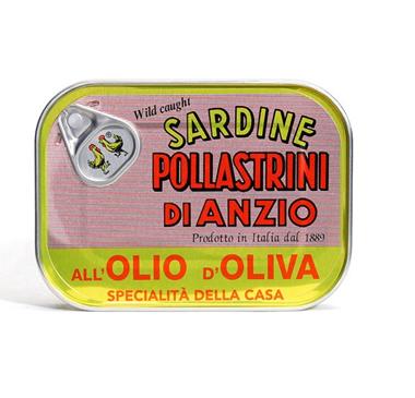 Pollastrini Sardine Tins Olive Oil 100g