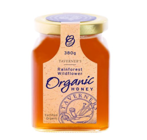Taverner's Rainforest Wildflower Organic Honey 380g