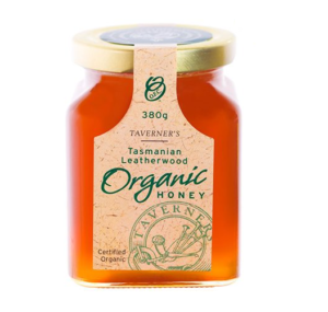 Taverner's Tasmanian Leatherwood Organic Honey 380g