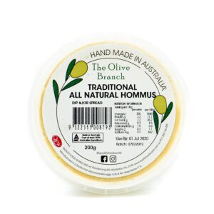 The Olive Branch Traditional All Natural Hommus 200g