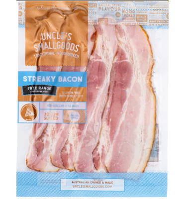 Uncle's Smallgoods Streaky Bacon