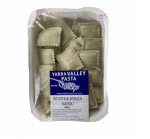 Yarra Valley Pasta Ricotta & Spinach Ravioli 400g