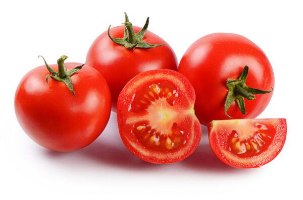Red Fresh Tomatoes Isolated On White